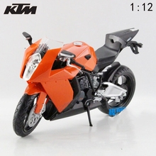 Freeshipping 1:12 KTM RC8 6006-02 Diecast Motorcycle Motorbike Model Toy New in Box Toys For Kids(China)