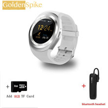 Bluetooth Smartwatch Y1 Relogio Invicta 2 г спортивные Смарт-часы мужские для iPhone samsung gear s3 vivo Xiaomi huawei Watch PK DZ09 A1(China)