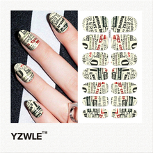 YZWLE 1 Sheet DIY Decals Nails Art Water Transfer Printing Stickers Accessories For Manicure Salon (YSD050)(China)