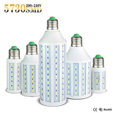 1Pcs E27 E14 Led Lamp SMD 5730 5630 220V 110V 7W 12W 15W 25W 30W 40W 50W LED Spot Light Corn Led Bulb Chandelier Candle Lighting()