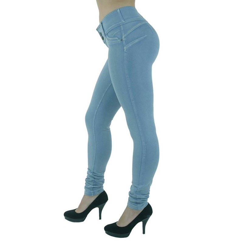 Sexy Push Up Leggings, Women's Denim Leggings, Casual Elastic Jeggings 5