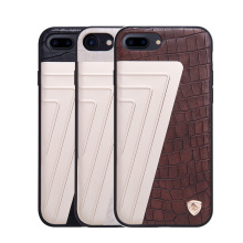 High Quality 4 materials Composite phone shell Elegant crocodile patter leather case PC+TPU back cover case for iPhone 7/7 Plus