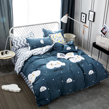 Svetanya cloud print Bedding Sets Europe Twin Queen Size Bedclothes 100% Cotton Duvet Cover Set Bedlinen