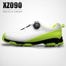 2018 Golf Shoes Men Waterproof Sports Shoes Knobs Buckle Shoes Mesh Lining Breathable Anti-slip Sneakers for Male(China)