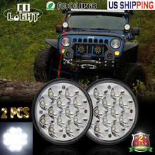 COLIGHT 36W Led Headlamp 5.75 Led Chip H4 High Low 2448LM Daytime Running Lights for Harley Motorcycle Truck Chopper Motorcycle(China)