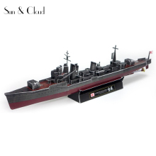 1:350 3D 33 X 3cm Japanese Destroyer Yukikaze Battleship Paper Model Second World War Assemble Hand Work Puzzle Game DIY Kid Toy