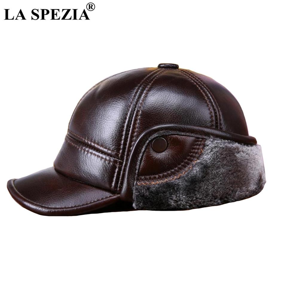 ... Genuine Cow Leather Warm Duckbill Hat Male Black Earflaps Luxury  Italian Vintage Snapback Cap. Feature  Winter Baseball Caps Men   Warm  Duckbill Hat ... 0d746380a335