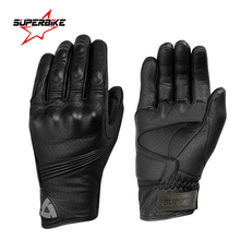 Motorcycle Gloves Leather Touch Screen Moto Glove Men Electric Bike Motocross Protective Gear Cycling Bike Luvas da motocicleta(China)