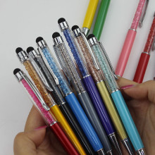 5PCS/lot Cute Crystal Pen Diamond Ballpoint Pens Stationery Ballpen 2 in 1 Crystal Stylus Touch Pen