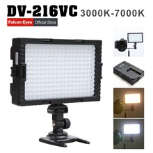 Falcon Eyes 216 Bi-Color LED Video Light Lamp Dimmable for illuminating Photographing or Filming for Canon Nikon Camera DV-216VC