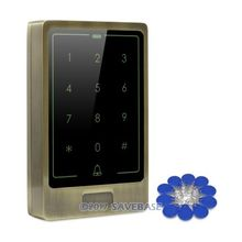 HOMSECUR Waterproof Gree Bronze 13.56Mhz IC Access Control with Metal Case+Backlight