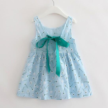 Children Summer Clothing Open Back Dandelion Dress For Girls Kids Cotton Dress Floral Print Costume Baby(China)
