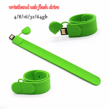 USB flash drive bracelet Pen Drive 16g 32g 64g wristband Pendrive 16gb U Disk fancy memory stick 4GB free shipping girl gift