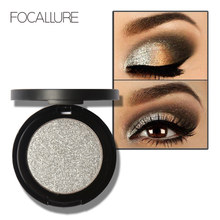 FOCALLURE Professional Glitter Eyes Pigment Single Eyeshadow Palette Minerals Makeup Eye Shadow Waterproof
