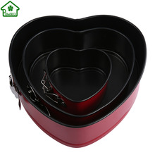 4/7/9 Inch Round Heart Shape Non-stick Springform Cake Mold Stainless Steel Cake Pastry Bread Baking Pan Mould DIY Cooking Tools(China)