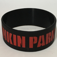 200PCS One inch linkin park wristband silicone bracelets free shipping by FEDEX(China)