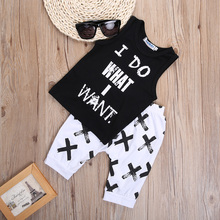 Summer Boys Clothes 2017 New Baby Boy Clothing Set Pattern Letter Toddler Boys Clothing Plaid Kids Clothes Children Clothing Set