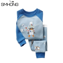 SMHONG 2017 Boys Pijamas Set Children's Kids Pyjamas Clothing Sets For 2-7 Years Penguin Animal Cute Pyjama Enfant Sleepwear(China)