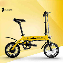 MINI  folding electric bicycle electric bicycle 14 inch 36V lithium battery mini hybrid electric bike pas rang 60km
