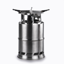 Outdoor Wood Gas Wood-Burning Stove Portable Folding Firewood Stove Multifunctional Camping Gasification Furnace