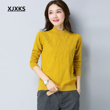 XJXKS Unique Hand Knitting 2017 New Selling Women Sweaters S-XXL Solid Long Sleeve High Quality Woman Pullovers Jumper(China)