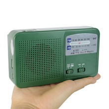 Dynamo Generator FM / AM Radio Solar Crank Radio Power Flashlight Emergency Charger Y4346G Fshow