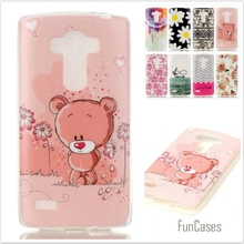 Cartoon cute Bear Owl Cat Pattern Soft TPU Silicone Mobile phone Case for   LG Optimus G4S G4 Beat Protective Back Cover Skin