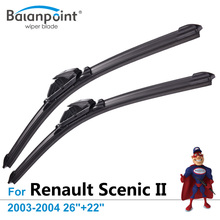"Wiper Blades for Renault Scenic II 2003-2004 26""+22"", Set of 2, Direct Fit Windscreen Wipers"