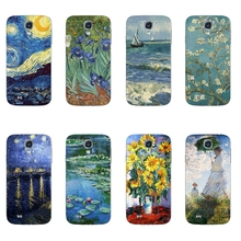 For Samsung Galaxy S4 Phone Case For Galaxy S4 I9500 Transparent S IV I9508 Ultra Thin Cover Van Gogh Pattern Capa Gel
