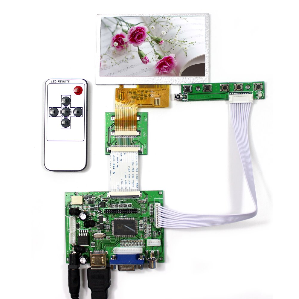 HDMI VGA 2AV LCD Controller Board VS-TY2662-V1+4.3 VS043T-004A HSD043I9W1 AT043TN24 480x272 LCD Screen<br>