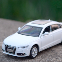 1/32 Alloy car model, Audii a6L simulation model acousto-optic car model DIE CAST sound and light(China)