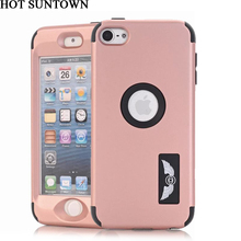 For Apple iPod Touch 6 Case Silicone & PC Back Cover iPod Touch 5 Cases Mobile Phone Shell Armor Shockproof Fitted Phone Case