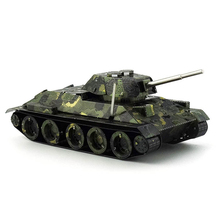 Colorful T-34 tank model 3D laser cutting puzzle DIY metal colorplate tank jigsaw best birthday gifts educational toys