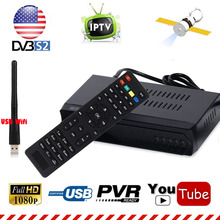 MPEG-4 HD AC3 DVB-S2 Digital Satellite Receiver H.264 IPTV m3u Combo TV Tuner Youtube With 2dbi USB WIFI 1G Ram Cccam IKS CS(China)