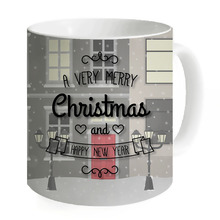 Mugs Coffee Hot Sale Creative Tea Milk Mug A Very Merry Christmas Unique Design Water Home Office Copos Camping Fishing(China)