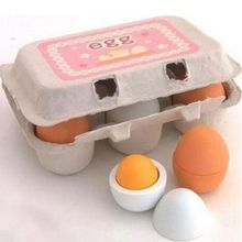 1 Set Kid Pretend Play Toy Yolk Kitchen Cooking Preschool Educational Wooden Eggs Toy Kitchen Food Children Games Xmas Gift(China)