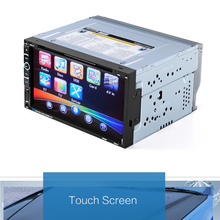 2 Din 6.95'' inch Touch Screen Car DVD Player Video Player Support FM Radio BT TF Card Rear View Camera with remote conrol(China)
