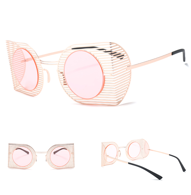 mens shield sunglasses women round black 7106 details (4)