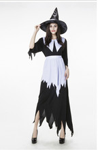 Vocole Sexy Women Halloween Fairytale Witch Sexy Cosplay Costume Long Dress Carnival Party Fancy Dress With Apron