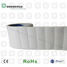 1000pcs/roll 9662 RFID Antenna Printable UHF RFID Paper Roll Stickers Passive RFID Label for Warehousing Security