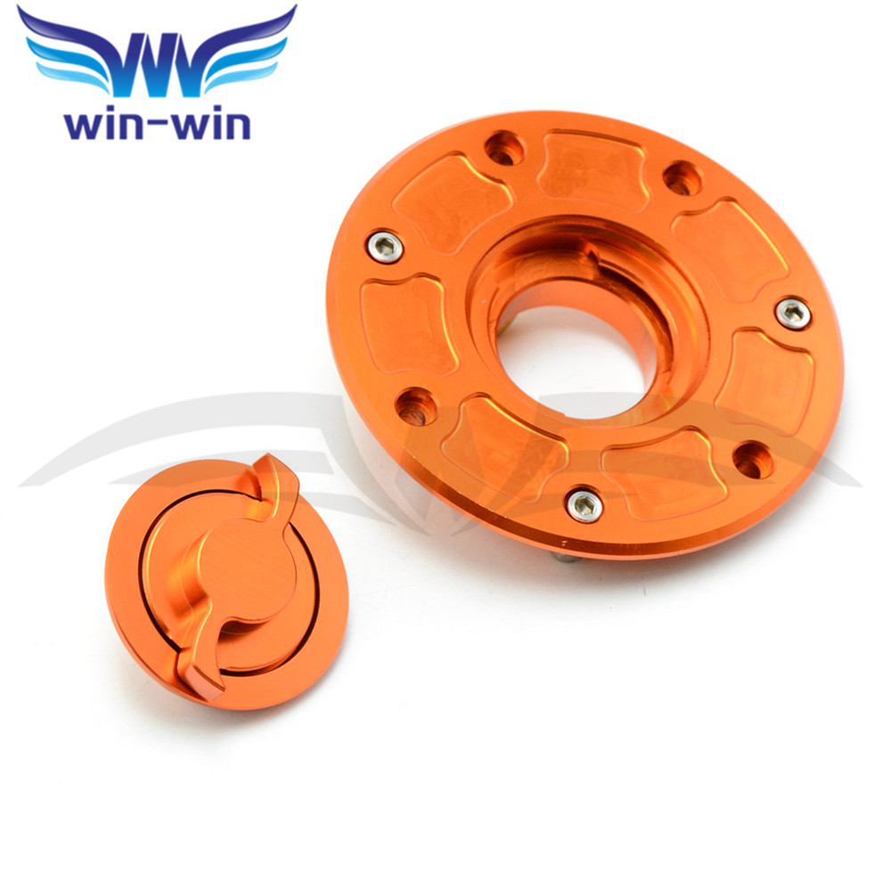 new brand  orange motorcycle Fuel Tank Cap Cover CNC  fuel tank gas cap  for ktm DUKE 200 390 690 990  2014 2015<br>