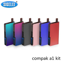 Buy Original Sigelei Compak A1 Kit 1100mAh Battery Built-in Vape kit 2.0ml Tank Electronic Cigarette Kit Zinc alloy+plastics for $20.75 in AliExpress store