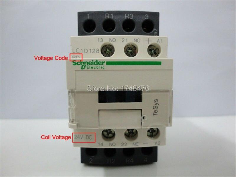 TeSys D Contactor 4P 2NO+2NC 25A LC1D128 LC1D128MD LC1-D128MD 220V DC Coil<br><br>Aliexpress