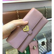 Stella Cuzdan Female Heart Purse Famous Brand 2017 Women Wallet Genuine Leather Day Clutches Bayan Pocket Card Holder Bag Bolsas