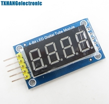 4 Bits LED Digital Tube Display module four serial module 595 drives(China)