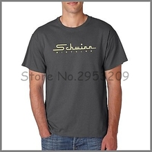 Schwinn Old School logo Charcoal t-shirt Leisure Short sleeve Round neck Cotton T shirt