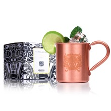 Homestia Copper Cup Moscow Mule Mug Drinks Water Coffee Milk 450ml Beer Wine Mug Brand New Copper Beer Mug(China)