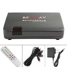 RF to AV  Converter video adapter box + Equipped Remote Control Station-selector without Location Limitation