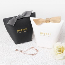 classic 10pcs Black and white Paper Box Wedding Favors Gifts Decoration For Cookie Candy Cheese Cake Gift Packaging Christmas