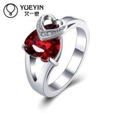 Fashion Women's silver plated wedding rings Engagement jewelry bague femme Classic Factory price Wholesale Retail gift